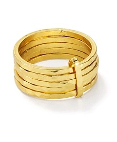 Argento Vivo Stacked-Effect Ring in 18K Gold-Plated Sterling Silver