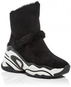 Ash Women's Blake Shearling High Top Sneaker Booties