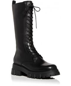 Ash Women's Lullaby Block Heel Platform Tall Combat Boots