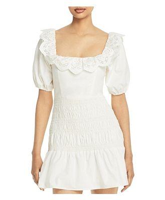 Astr the Label Patina Lace Trim Mini Dress