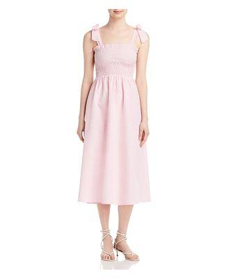 Ava & Esme Seersucker Long Midi Bow Tied Dress (58% off) - Comparable value $118