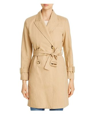 Avec Les Filles Double-Breasted Trench Coat - 100% Exclusive