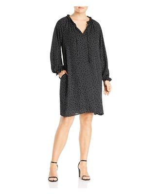 B Collection by Bobeau Curvy Yvonne Dot-Print Shift Dress