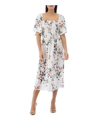 B Collection by Bobeau Mathilde Smocked Flutter-Sleeve Dress