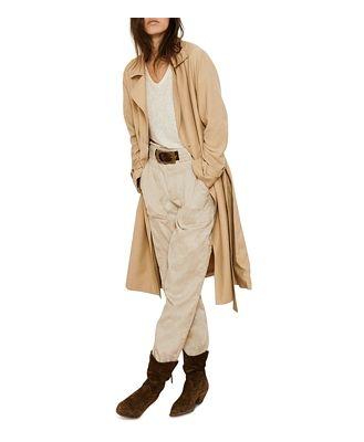ba & sh Cricko Long Trench Coat