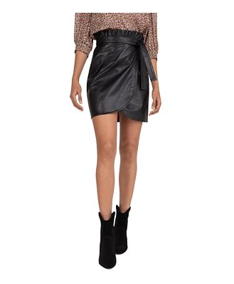 ba & sh Luna Wrap Mini Skirt