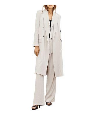 ba & sh Stan Long Notch Collar Coat