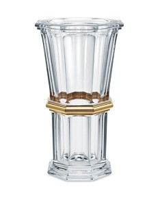 Baccarat Harcourt Straight Vase, Gold