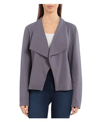 Bagatelle French Terry Draped Collar Jacket