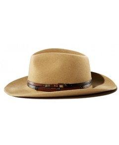 Bailey of Hollywood Stedman Leather Trimmed Fedora Hat