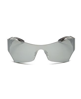 Balenciaga Women's Mirrored Shield Sunglasses, 99mm