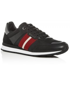 Bally Men's Aseo Leather Low-Top Sneakers