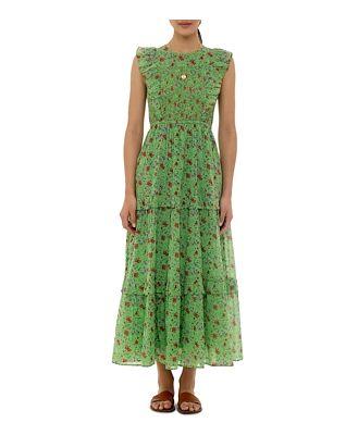 Banjanan Printed Tiered Dress