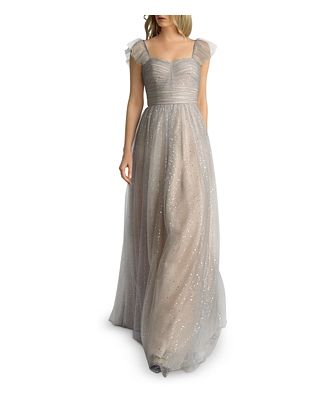 Basix Glitter Fit-and-Flare Gown