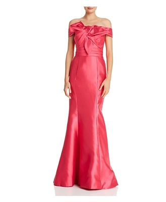 Basix Off-the-Shoulder Silk Gown