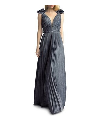 Basix Pleated Shimmer Gown