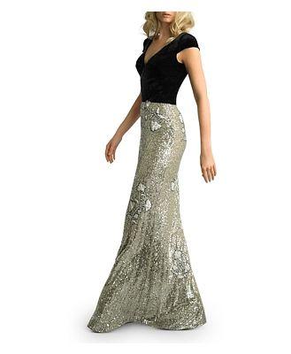 Basix Velvet & Floral Sequin Gown