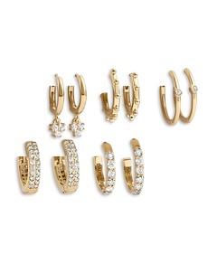 Baublebar Liza Huggie Hoop Earrings in 18K Gold-Plated Sterling Silver, Set of 5