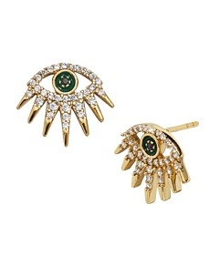 Baublebar Tali Pave Eye Stud Earrings