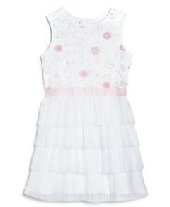 BCBGirls Girls' Floral Tiered Dress - Little Kid