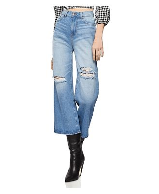BCBGeneration Distressed Cropped Jeans in Destructed