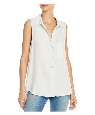 Bella Dahl High/Low Sleeveless Shirt