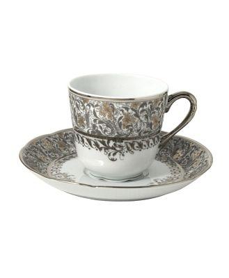 Bernardaud Eden Platinum Coffee Saucer