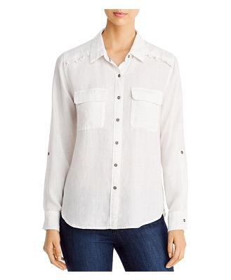 Billy T Ruffled Button-Back Shirt