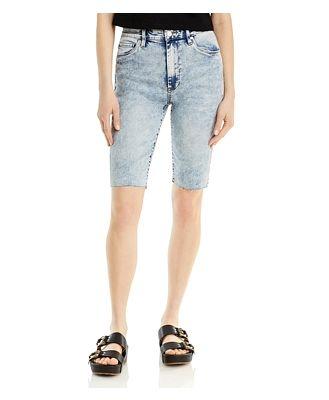 Blanknyc Acid Washed Bermuda Jean Shorts in Chat Room
