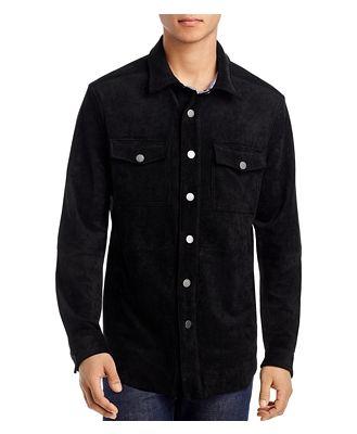 Blanknyc Faux Suede Slim Fit Shirt