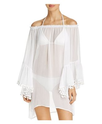 Bleu Rod Beattie Off-the-Shoulder Dress Swim Cover-Up