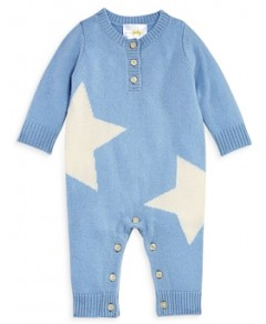Bloomie's Boys' Double Star Cashmere Coverall, Baby - 100% Exclusive