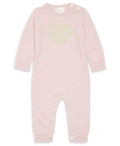Bloomie's Girls' Heart Cashmere Playsuit - Baby