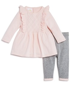 Bloomie's Girls' Ruffled Sweater Tunic & Knit Leggings Set, Baby - 100% Exclusive