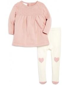 Bloomie's Girls' Sweater Dress & Heart Tights Set, Baby - 100% Exclusive