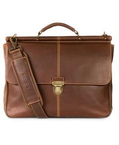 Boconi Bryant Leather Dowel Rod Briefcase