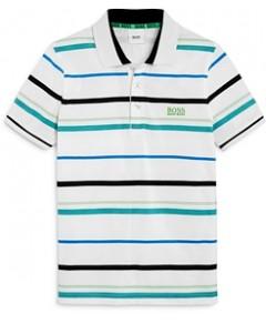 Boss Hugo Boss Boys' Striped Logo Polo Shirt- Little Kid, Big Kid