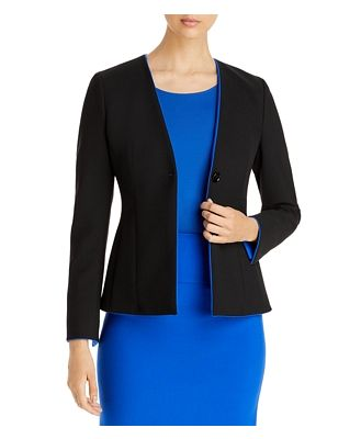 Boss Jucita Collarless Blazer