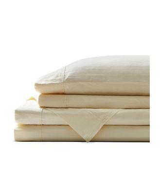 Brielle Home Organic Cotton Dobby Stripe Sheet Set, King - 100% Exclusive