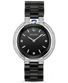 Bulova Rubaiyat Black Dial Watch, 35mm