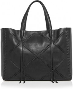 Callista Iconic Cross-Stitch Leather Tote