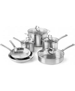 Calphalon Classic Stainless Steel 10-Piece Cookware Set