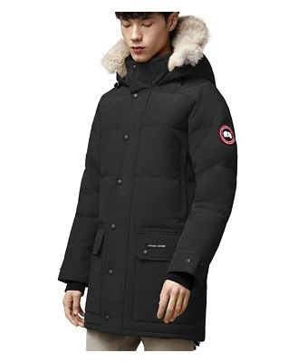 Canada Goose Fusion Fit Emory Quilted Fur Trim Hooded Down Parka