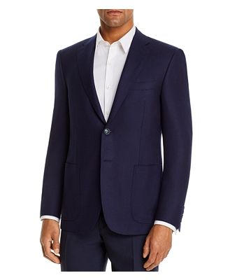 Canali Siena Textured Weave Classic Fit Sport Coat
