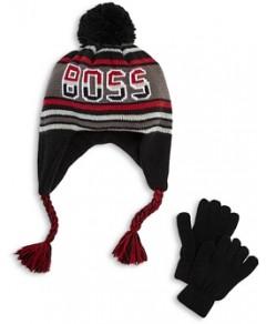 Capelli Boys' Pom Tassel Knit Hat & Gloves Set - Little Kid, Big Kid