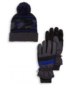 Capelli Boys' Winter Hat & Gloves Set - Big Kid