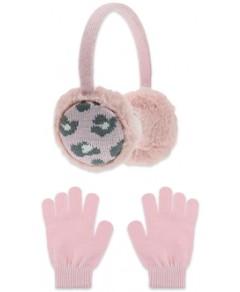 Capelli Girls' 2 Pc. Faux Fur Earmuff & Gloves Set - Big Kid