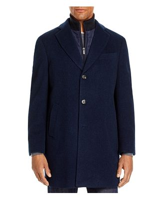 Cardinal Of Canada Wool-Cashmere Regular Fit Topcoat With Bib