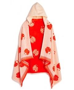 Caro Home Lady Bug Kids Hooded Towel
