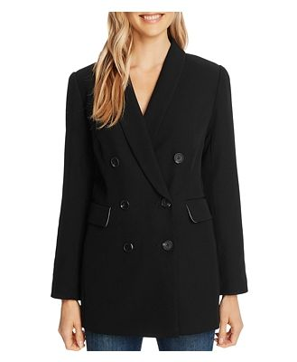 CeCe Twill Double-Breasted Jacket